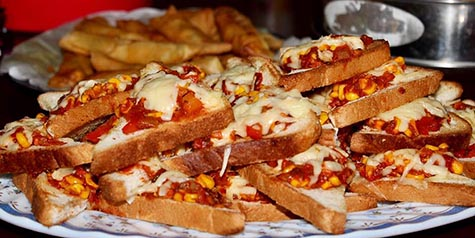 Easy Bread Pizza Cooking With Thas