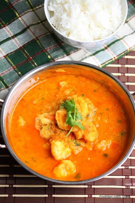 Shrimp Curry Goan Style