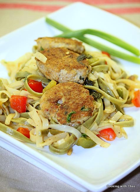 Basil Chicken Patties With Noodles- Thai Style | Cooking ...