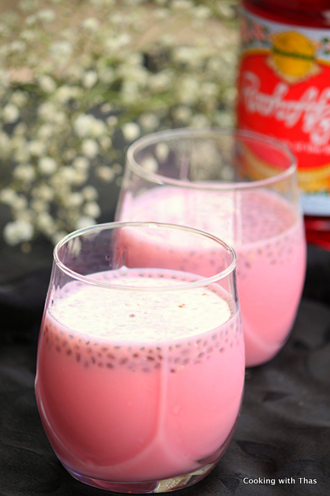 Chilled Rooh Afza Milk