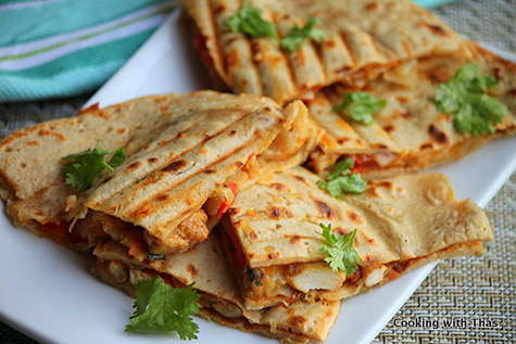 Indian style Quesadilla