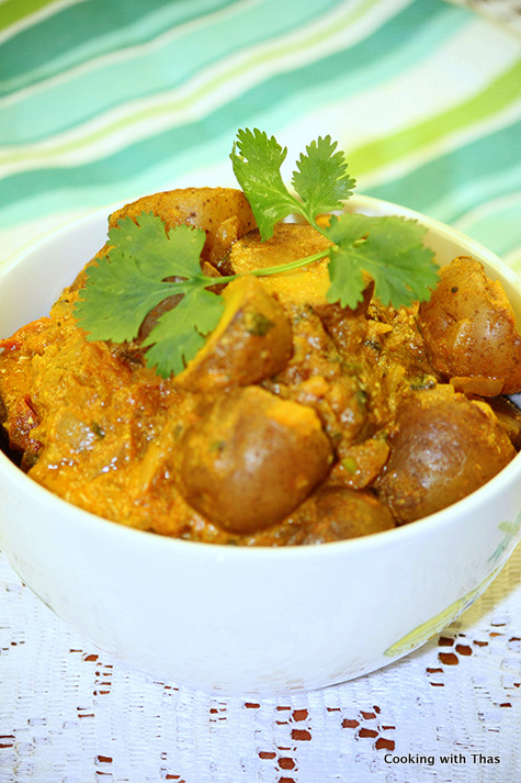 Potato Masala or Potato in Yogurt gravy