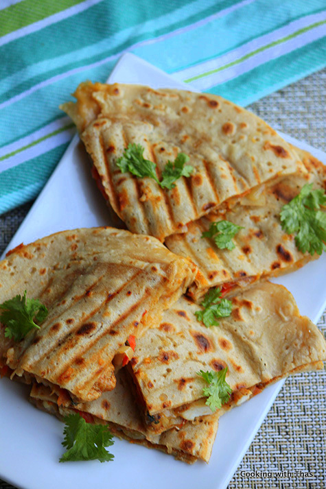 Quesadilla- Indian Style