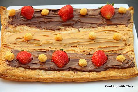 Puff pastry dessert