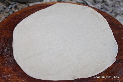 rolled samosa dough