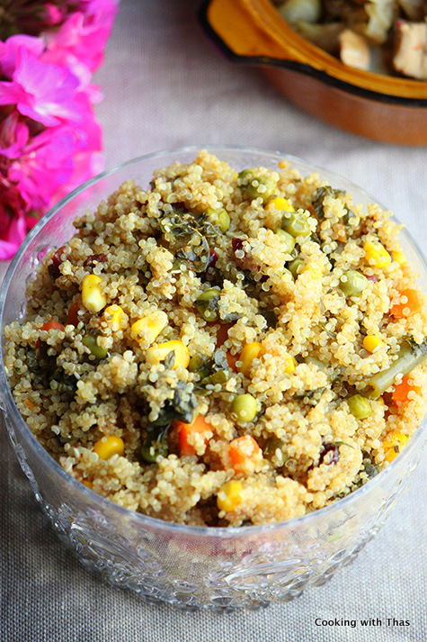 1 minute mixed veg quinoa