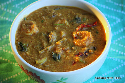 Chettinad Shrimp Sambar
