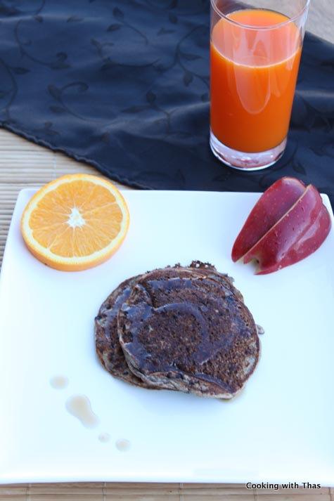 black berry-corn meal pancake