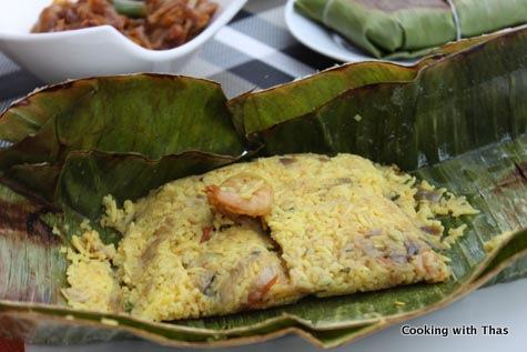 shrimp-coconut rice
