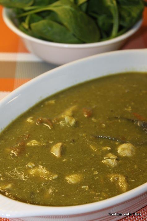 spinach lentil chicken soup