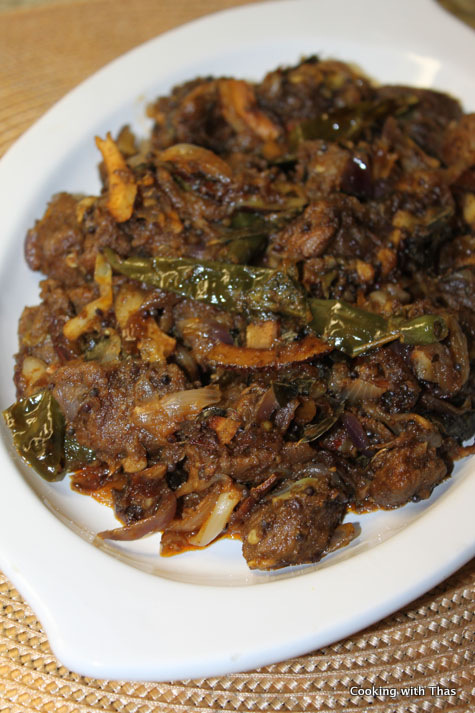 Green chili beef plated