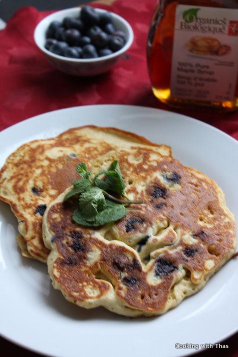 Orange-Blueberry pancake