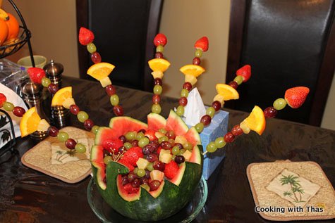 peacock-fruit basket