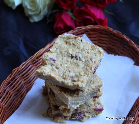 oats peanut butter bars