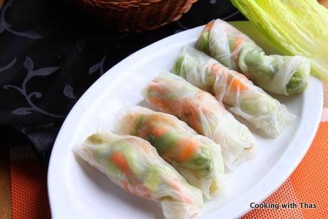 shrimp-rice paper rolls