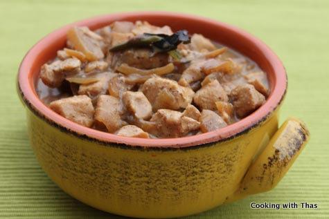 fennel-pepper chicken korma