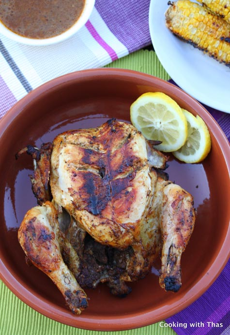 grilled-whole chicken