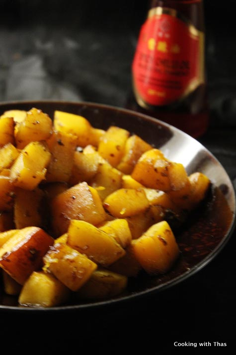 oven roasted asian butternut squash