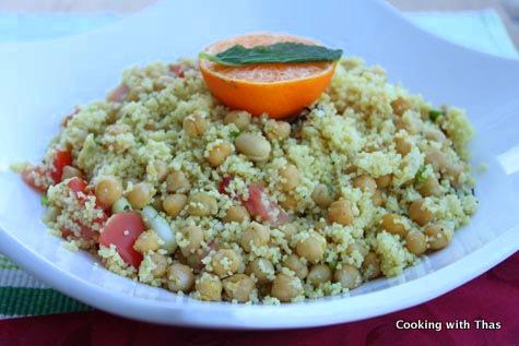 couscous chick peas salad