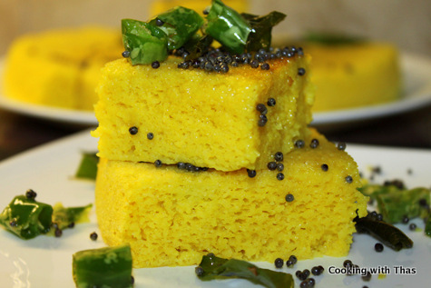 dhokla-steam cooked cake