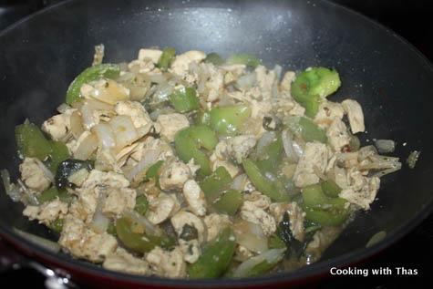 making basil chicken