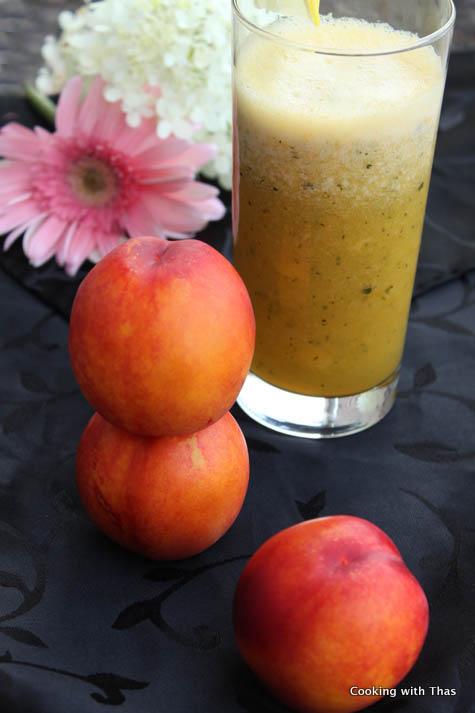 nectarine-mint drink
