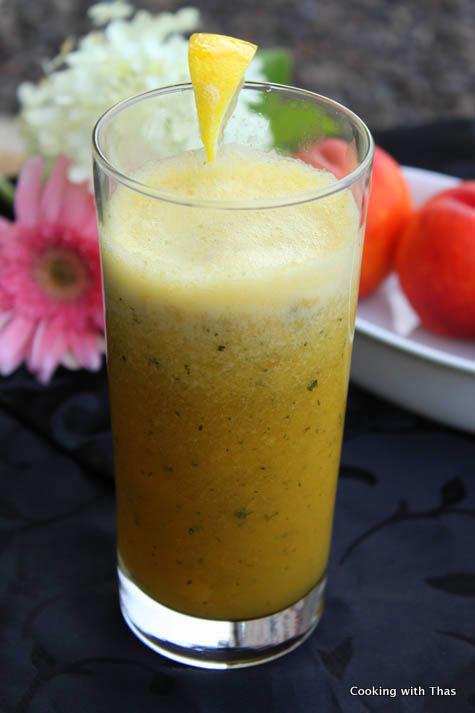nectarine mint drink