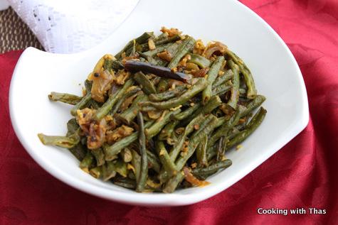 long beans-stir fry