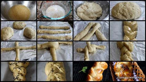 makign challah bread
