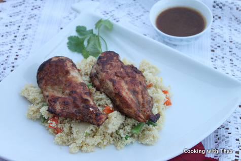 pan fried chicken in-dates sauce