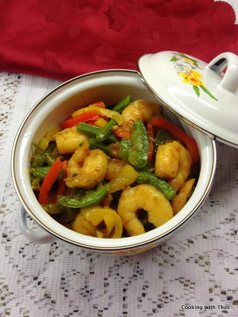 honey-soy shrimp