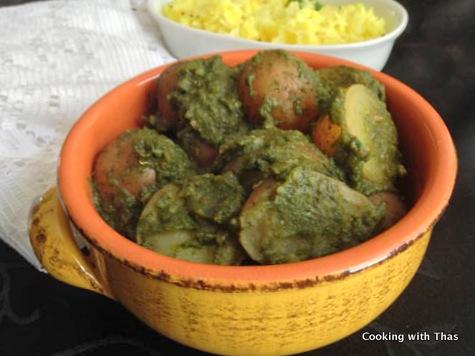 spinach and potato