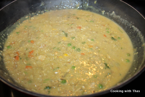making oats chicken soup