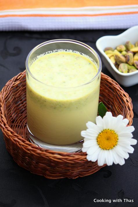 Pistachios and Saffron Milk