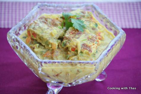 Egg Omelette Korma