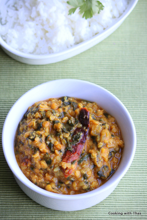 lentil-spinach curry