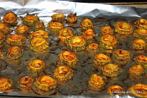 baked-bitter gourd