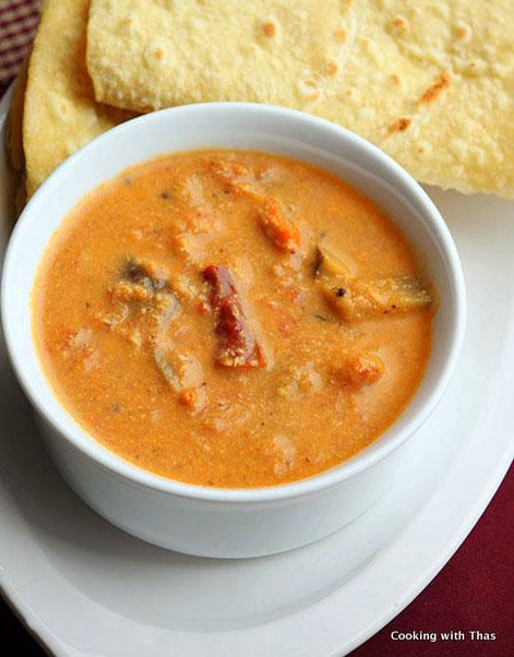 Tomato-eggplant curry