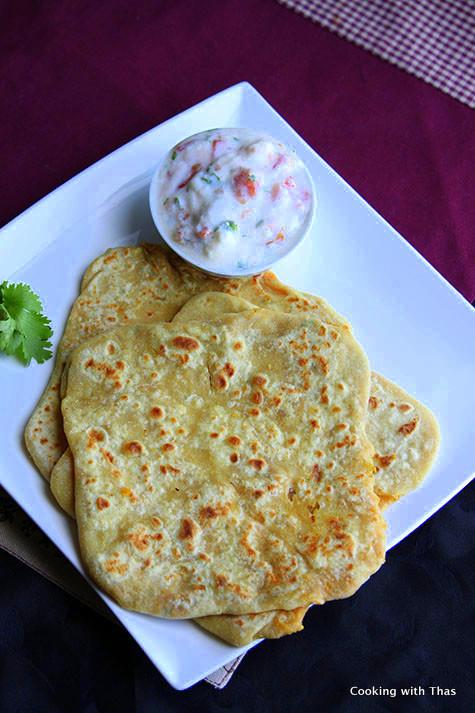 chana-dal stuffed paratha