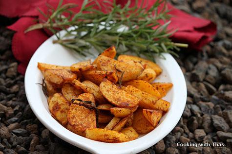 roasted-rosemary potatoes