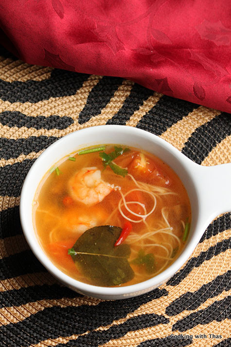 thai soup with rec curry paste