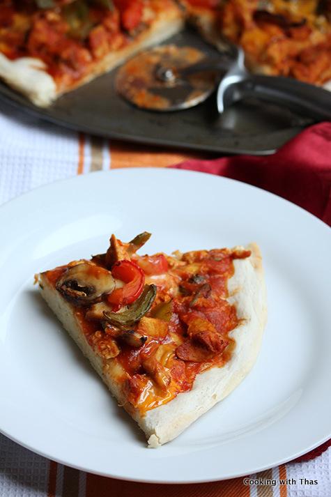 dragon chicken pizza