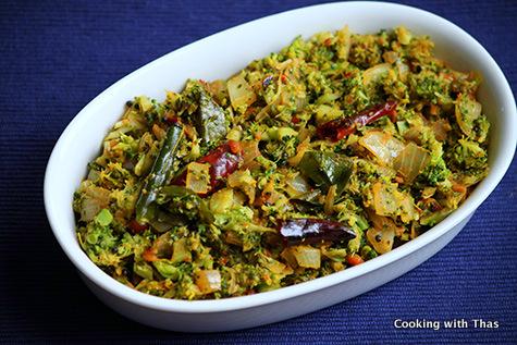 broccoli thoran- stir fry