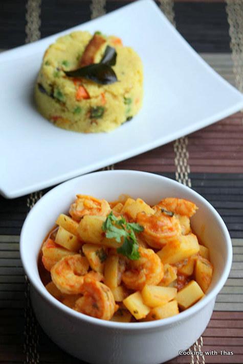 easy shrimp and potato curry