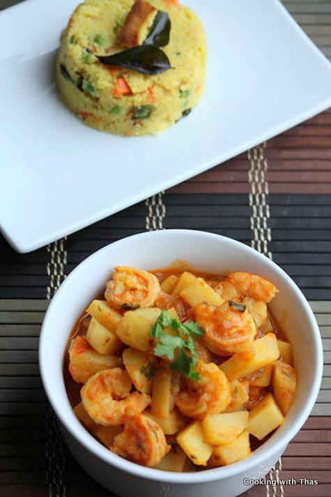 shrimp potato curry