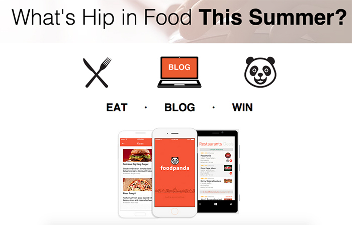 Foodpanda Blogger contest