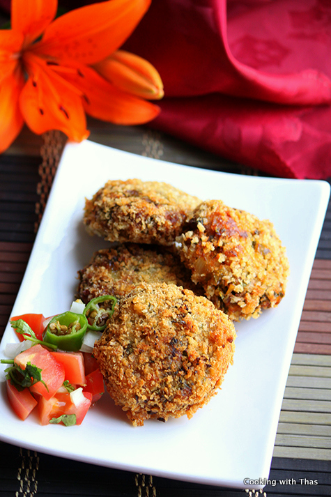 Kale and chicken cutlets