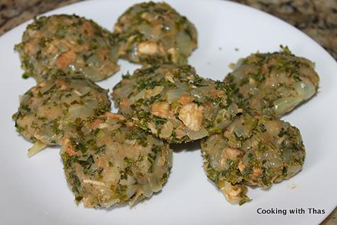 making kale chicken cutlets