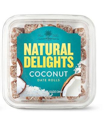Natural Delights Coconut Date Rolls
