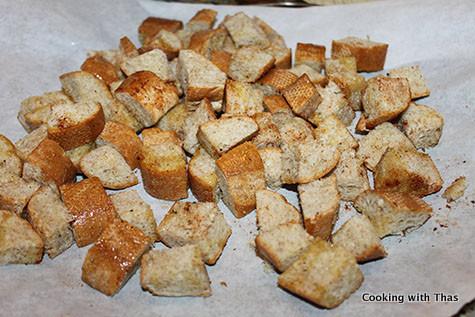 baking croutons